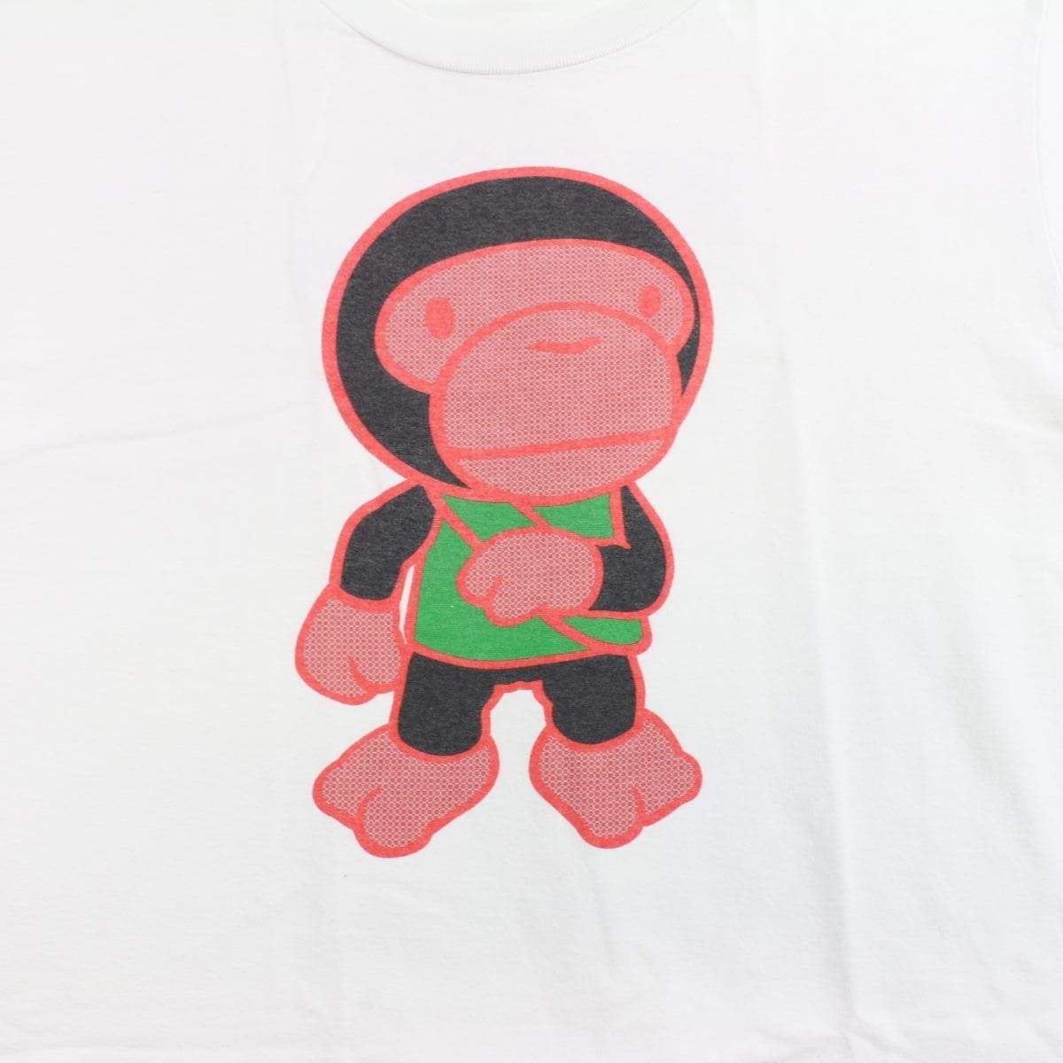 bape milo toy soldier figure tee white - SaruGeneral