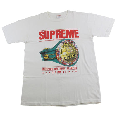supreme heavyweight champion belt tee white 2005 - SaruGeneral