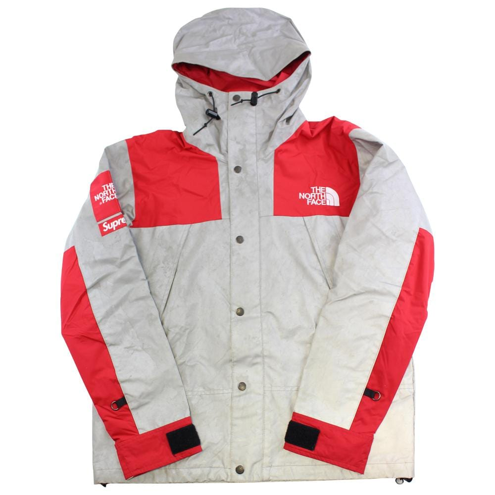 supreme x the north face 3m reflective jacket red 2013