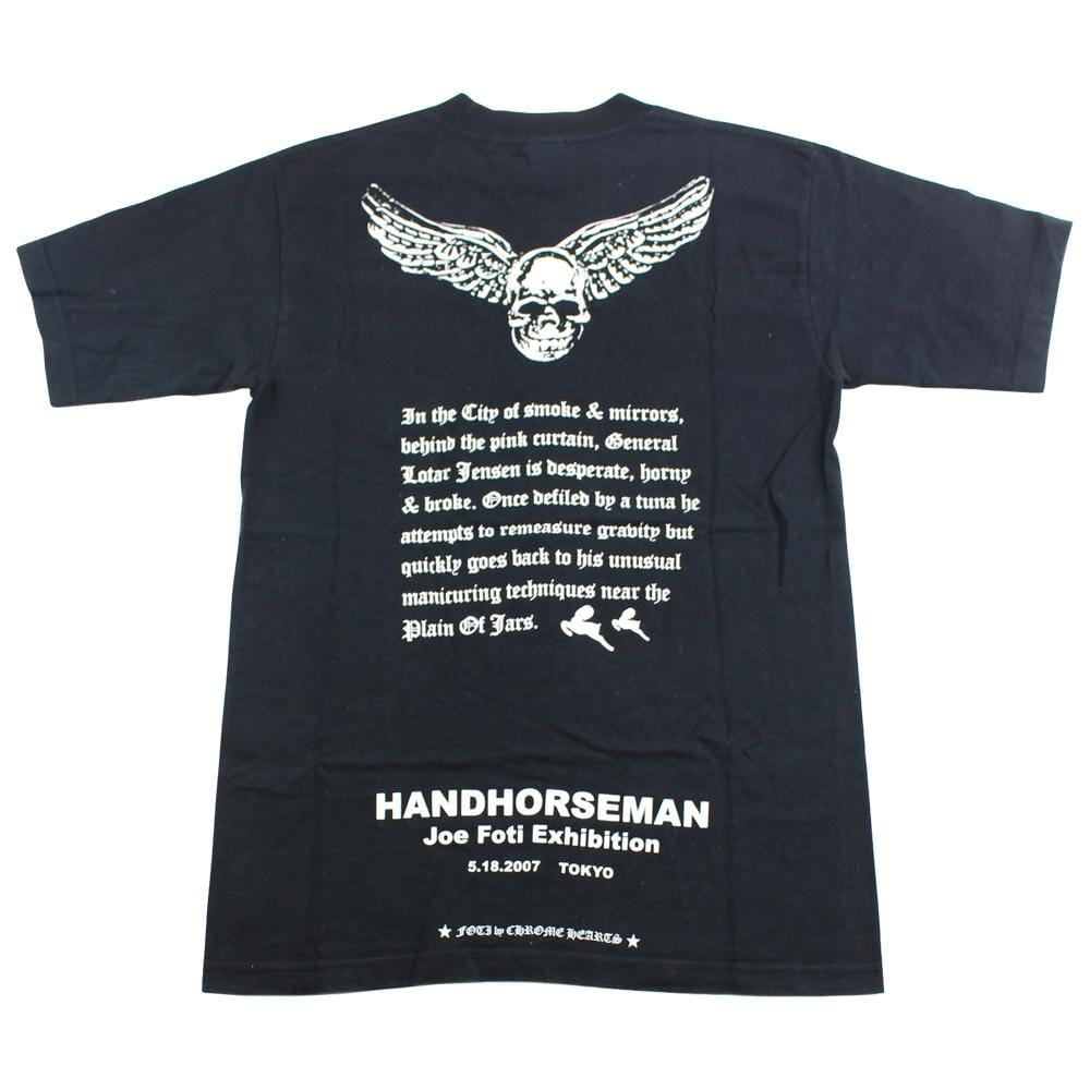 chrome hearts x foti skull wings pocket tee black