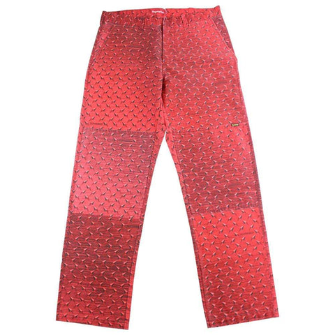 supreme diamond plate pants red - SaruGeneral
