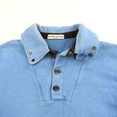 stone island 1/4 button up polo ls navy 2011 - SaruGeneral
