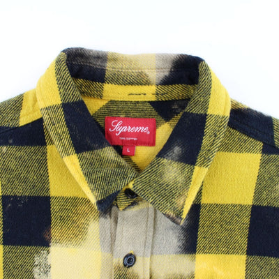 Supreme Yellow buffalo Bleach Flannel - SaruGeneral