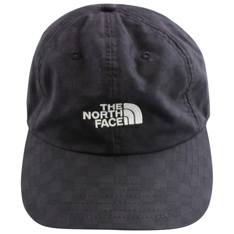 supreme x the north face tnf black checkered 6panel 2011 - SaruGeneral