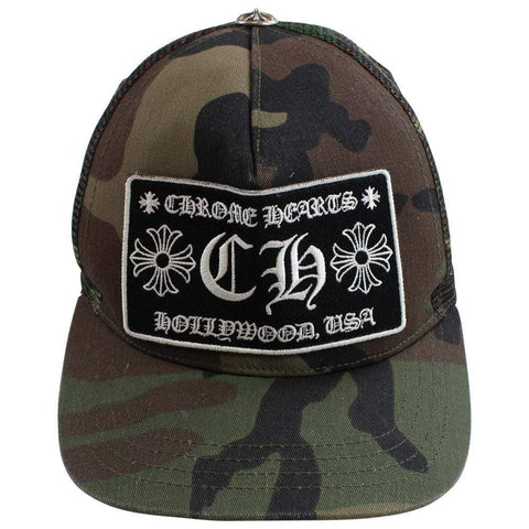 chrome hearts green camo trucker - SaruGeneral