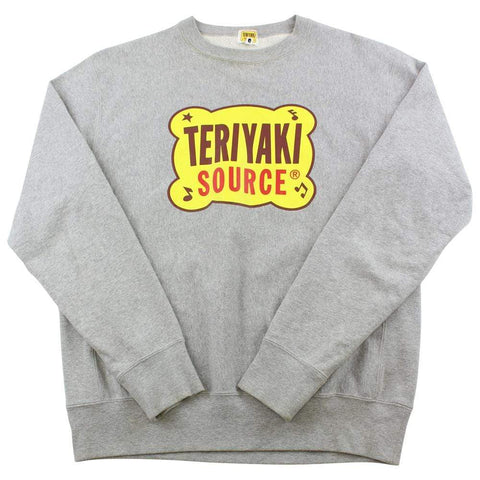 Bape Teriyaki Source Logo Crewneck Grey