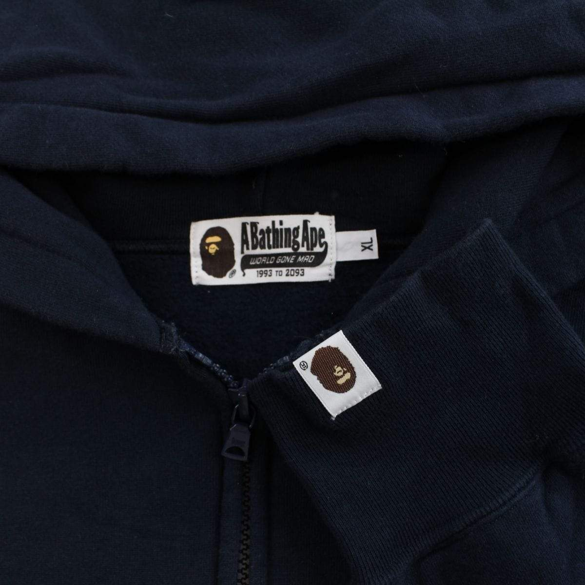 bape big ape logo full zip black - SaruGeneral