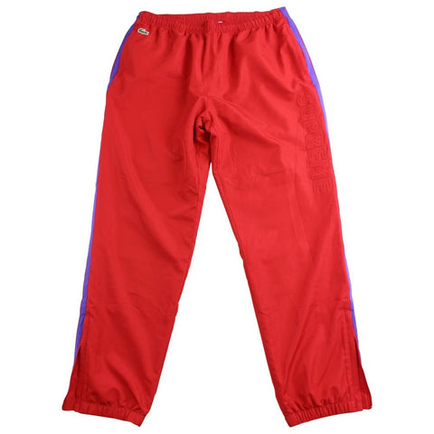 supreme x lacoste track pants red - SaruGeneral