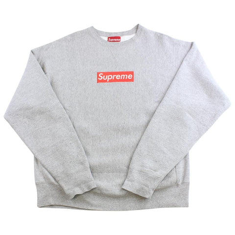 supreme red on grey box logo crewneck 1997 - SaruGeneral
