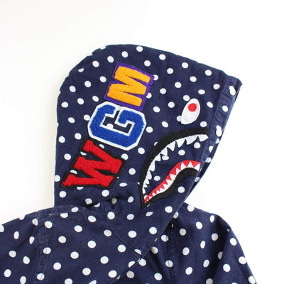 bape polka dot shark button up - SaruGeneral
