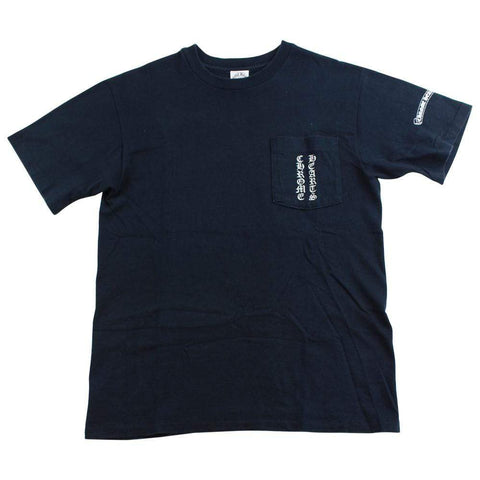 chrome hearts script pocket tee black - SaruGeneral