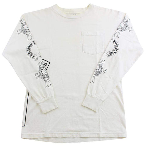chrome hearts pocket cross ls white - SaruGeneral