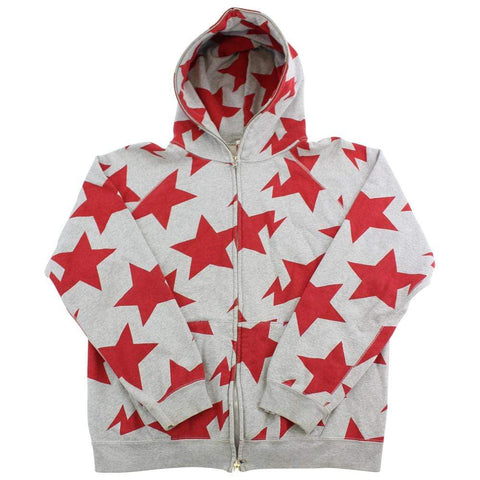 Bape Red Bapesta All Over Print Hoodie Grey