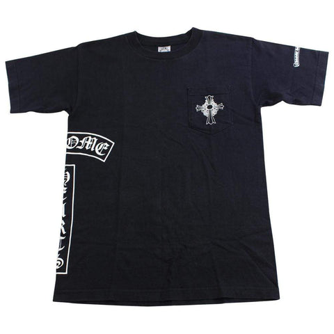 chrome hearts side logo pocket tee black - SaruGeneral