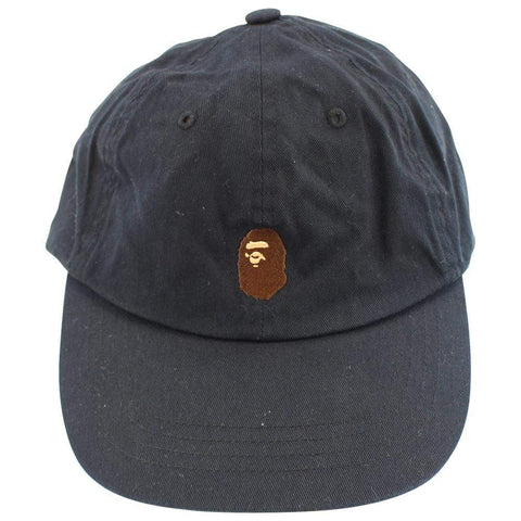 Bape Point Head Logo 6 Panel Navy