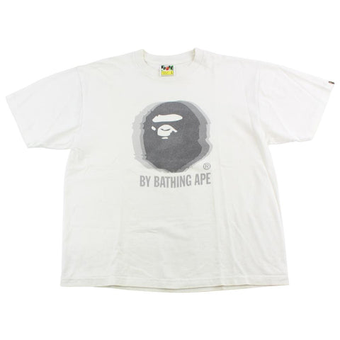 Bape Blurry Big Ape Logo Tee White