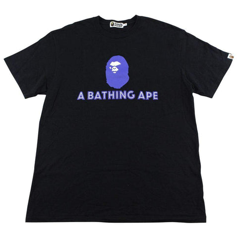 Bape Angry Face Big Ape Text Tee Black - SaruGeneral