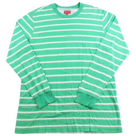supreme green white stripe ls - SaruGeneral