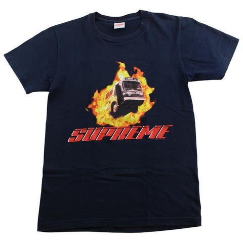 supreme flame bus tee navy - SaruGeneral