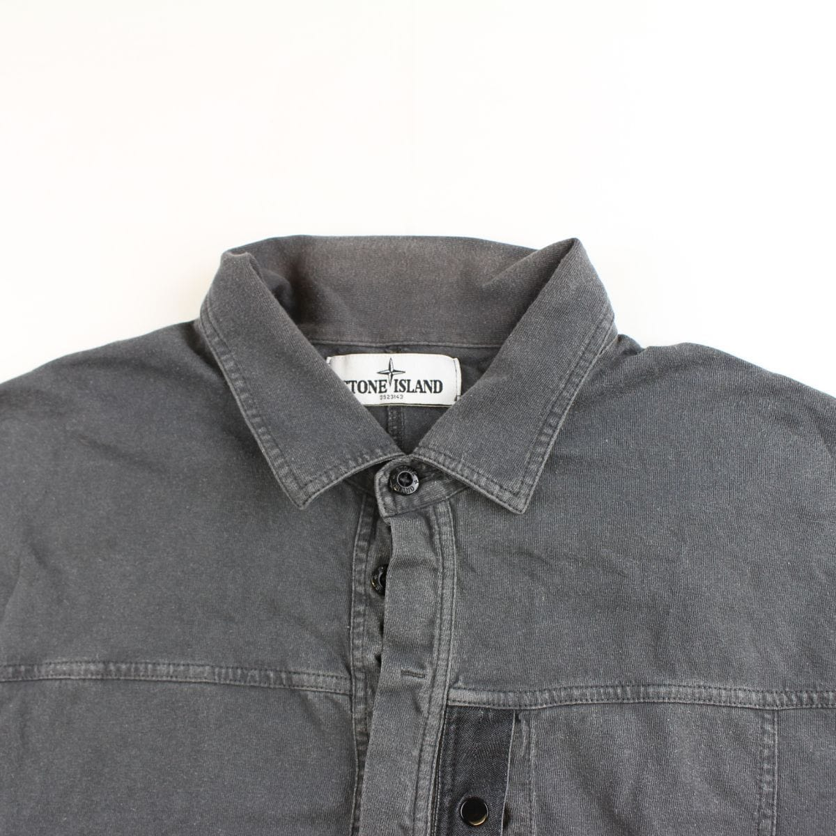 stone island quarter button up polo ls black - SaruGeneral