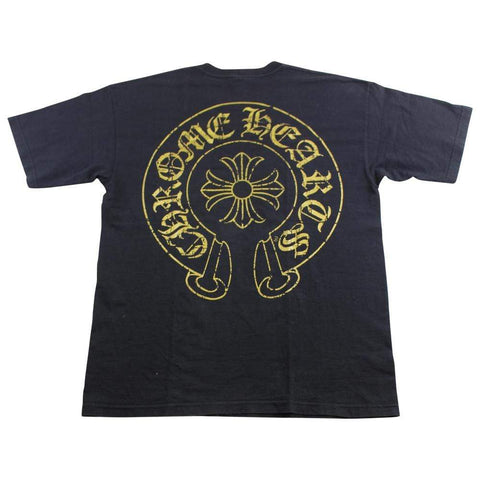chrome hearts gold horseshoe tee black - SaruGeneral