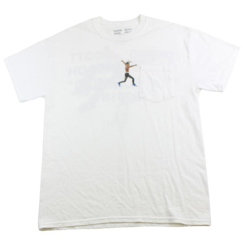 Travis Scott x Virgil Abloh Astroworld pocket tee white - SaruGeneral