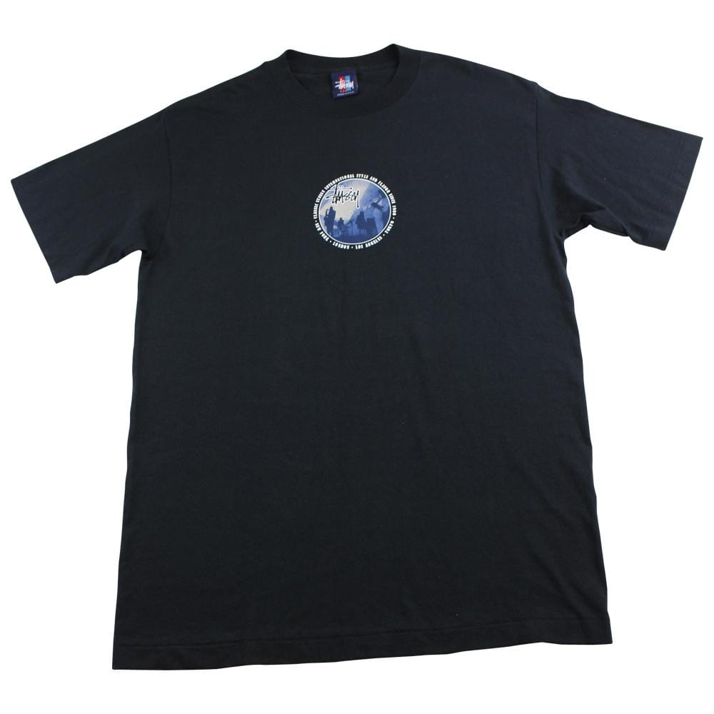 Stussy Jazz Band Circle Logo tee Black - SaruGeneral