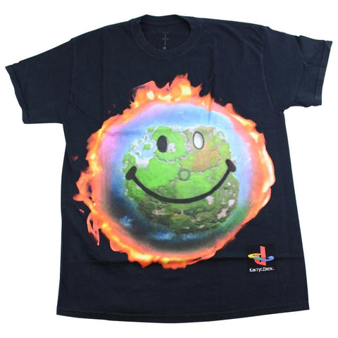 Travis Scott x Fortnite World on Fire Tee Black - SaruGeneral