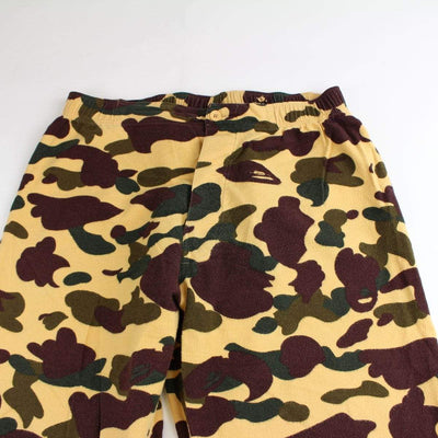 Bape 1st Yellow Camo Fleece pants - SaruGeneral