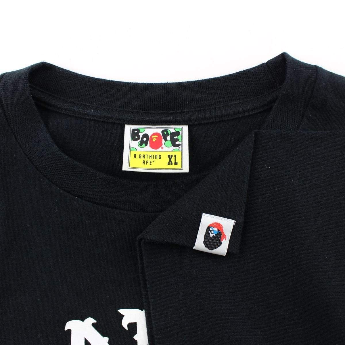 Bape Pirate Store College Logo Tee Black - SaruGeneral