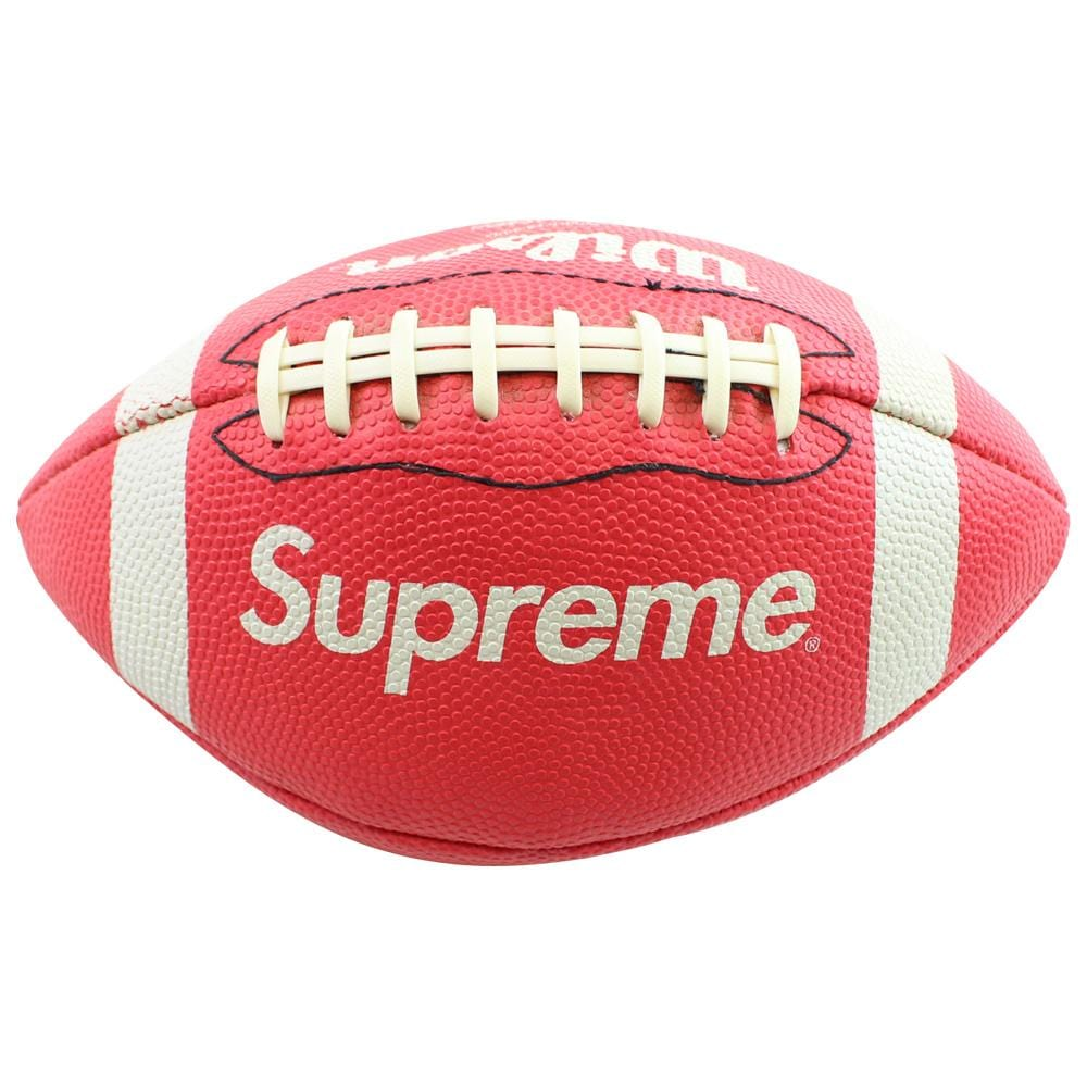 Supreme x Wilson American Football Red 2010 & Pack of 2 LV Stickers - SaruGeneral