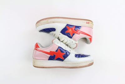 Bapesta Red Pink Blue White - SaruGeneral