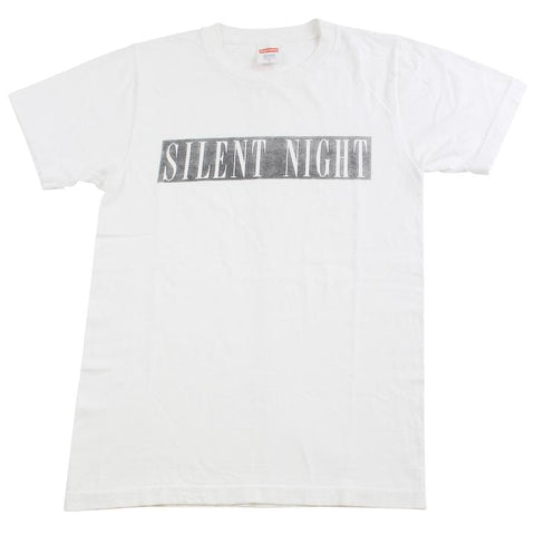 supreme silent night tee white