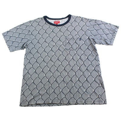 supreme chain link tee navy - SaruGeneral
