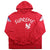 supreme x new york yankees hoodie red - SaruGeneral