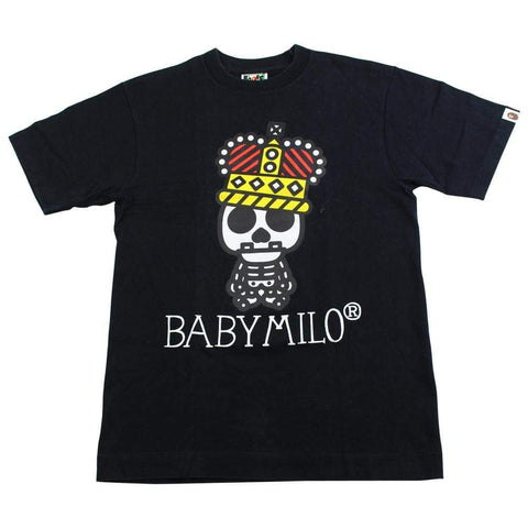bape milo crown skeleton tee black - SaruGeneral