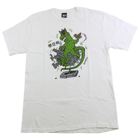 stussy dino tee white - SaruGeneral