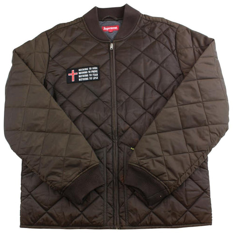 supreme nothing to quilted jacket 2014