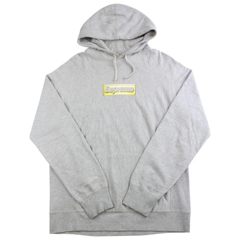 supreme bling box logo hoodie grey XL