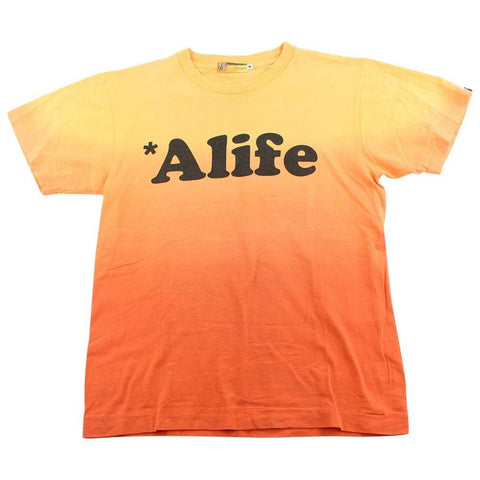 Bape Alife Gradient Tee Orange