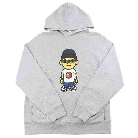 bape nigo figure hoodie grey early 00's - SaruGeneral