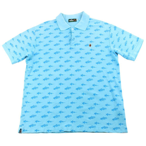 Bapesta Allover Polo Baby Blue - SaruGeneral