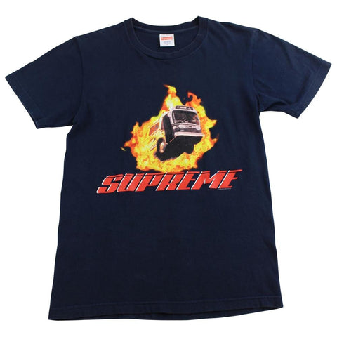 Supreme Flame Bus tee black - SaruGeneral