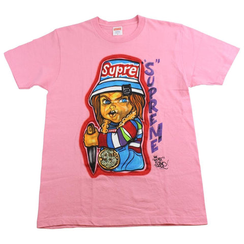 Supreme x Chucky Tee Pink 2014 - SaruGeneral