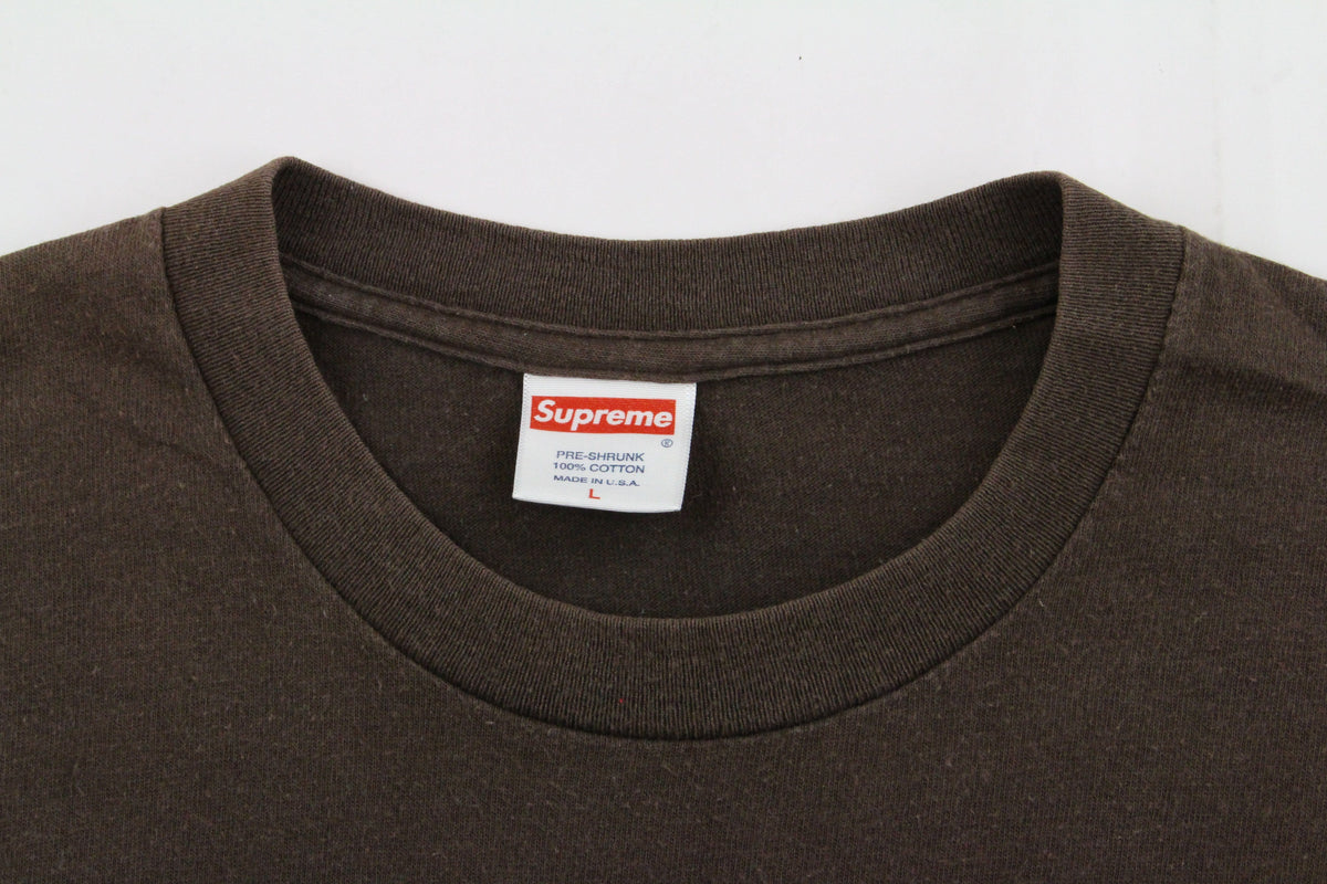 Supreme x Stussy World Famous Team Tee Brown - SaruGeneral