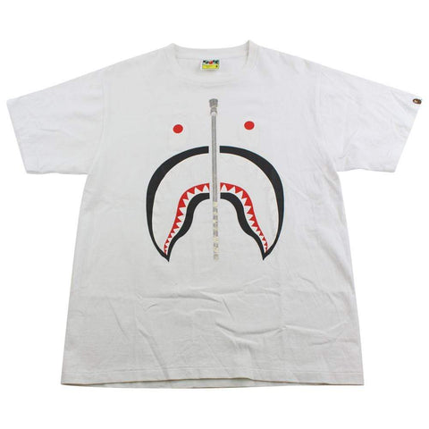 Bape Black Shark Face Tee White - SaruGeneral