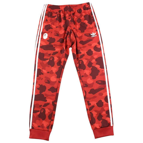 Bape Adidas Red Camo Track Pants - SaruGeneral