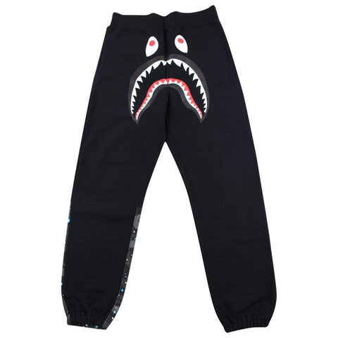 Bape Black space camo Shark Face Joggers Black - SaruGeneral
