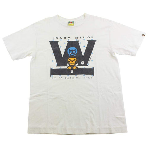 Bape Baby Milo Walrus Tee White - SaruGeneral