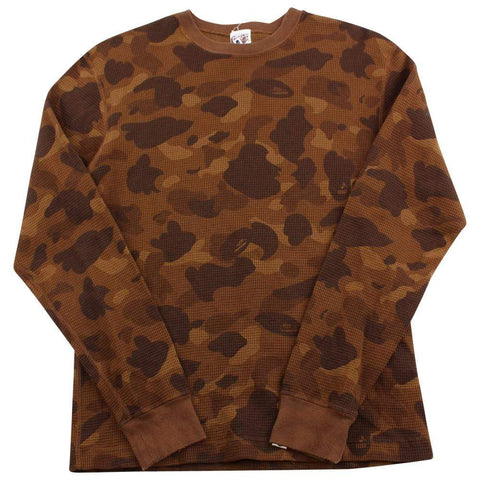 Bape Brown Camo Waffle LS - SaruGeneral